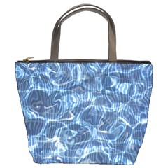 Abstract Blue Diving Fresh Bucket Bag by HermanTelo
