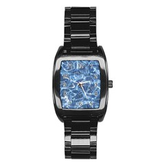 Abstract Blue Diving Fresh Stainless Steel Barrel Watch by HermanTelo