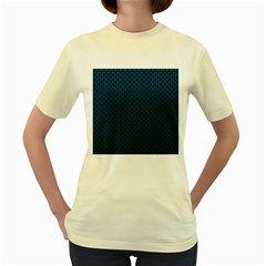 Background Holes Texture Women s Yellow T-shirt by HermanTelo