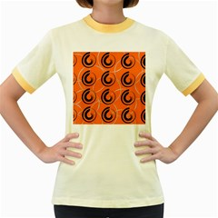Background Pattern Retro Women s Fitted Ringer T-shirt by HermanTelo