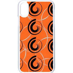 Background Pattern Retro Iphone X Seamless Case (white)