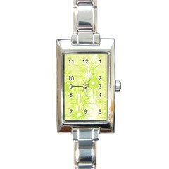 Background Green Star Rectangle Italian Charm Watch by HermanTelo
