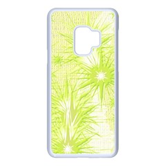 Background Green Star Samsung Galaxy S9 Seamless Case(white) by HermanTelo