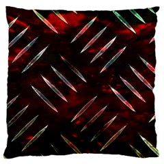 Background Red Metal Standard Flano Cushion Case (one Side) by HermanTelo