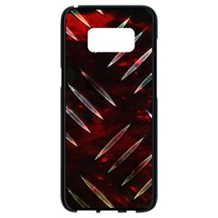 Background Red Metal Samsung Galaxy S8 Black Seamless Case by HermanTelo