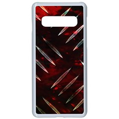 Background Red Metal Samsung Galaxy S10 Seamless Case(white) by HermanTelo
