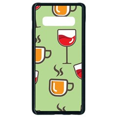 Cups And Mugs Samsung Galaxy S10 Plus Seamless Case (black) by HermanTelo