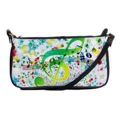 Circle Music Pattern Shoulder Clutch Bag by HermanTelo