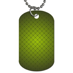Hexagon Background Line Dog Tag (two Sides)