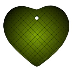 Hexagon Background Line Heart Ornament (two Sides)
