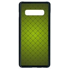 Hexagon Background Line Samsung Galaxy S10 Plus Seamless Case (black) by HermanTelo
