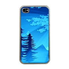 Forest Landscape Pine Trees Forest Iphone 4 Case (clear) by Pakrebo