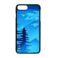 Forest Landscape Pine Trees Forest Iphone 7 Plus Seamless Case (black)