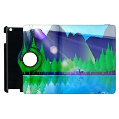 Forest Landscape Pine Trees Forest Apple Ipad 3/4 Flip 360 Case