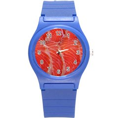 Food Fish Red Trout Salty Natural Round Plastic Sport Watch (s)