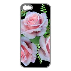 Roses Flowers Ferns Arrangement Iphone 5 Case (silver)