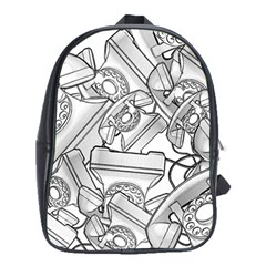 Phone Dial Communication Technology School Bag (xl) by Pakrebo