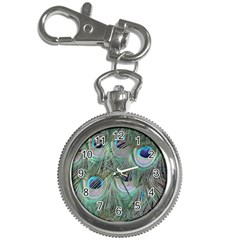 Peacock Feather Pattern Plumage Key Chain Watches
