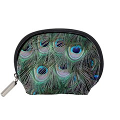 Peacock Feather Pattern Plumage Accessory Pouch (small)
