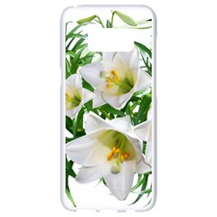 Lilies Flowers Perfume Arrangement Samsung Galaxy S8 White Seamless Case
