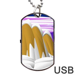 Europa Positive Thinking Mountain Dog Tag Usb Flash (two Sides) by Pakrebo