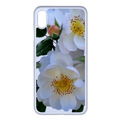 Roses Stamens Pollen Buds White Iphone Xs Max Seamless Case (white) by Pakrebo