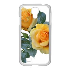 Roses Yellow Flowers Fragrant Samsung Galaxy S4 I9500/ I9505 Case (white)