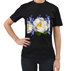 Flowers Camellia Bluebells Fragrant Women s T Shirt (black)