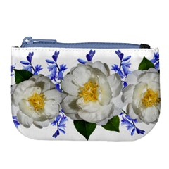 Flowers Camellia Bluebells Fragrant Large Coin Purse