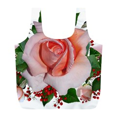 Roses Flowers Berries Arrangement Full Print Recycle Bag (l)