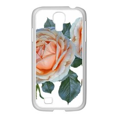 Roses Flowers Buds Ragrance Samsung Galaxy S4 I9500/ I9505 Case (white)