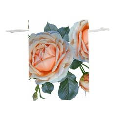 Roses Flowers Buds Ragrance Lightweight Drawstring Pouch (l)