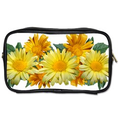 Daisies Flowers Yellow Arrangement Toiletries Bag (two Sides)
