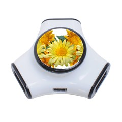 Daisies Flowers Yellow Arrangement 3 Port Usb Hub