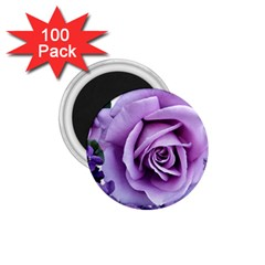 Roses Violets Flowers Arrangement 1 75  Magnets (100 Pack)
