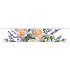Roses Flowers Salvias Arrangement Small Flano Scarf