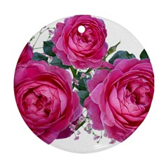 Roses Gypsophila Flowers Fragrant Round Ornament (two Sides)