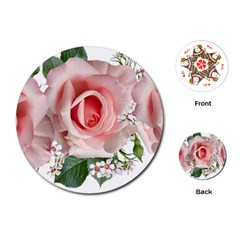 Roses Flowers Wax Flowers Playing Cards Single Design (round)