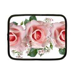 Roses Flowers Wax Flowers Netbook Case (small)