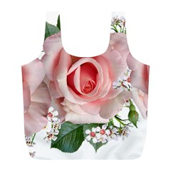Roses Flowers Wax Flowers Full Print Recycle Bag (l)