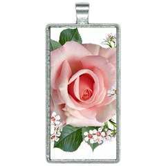 Roses Flowers Wax Flowers Rectangle Necklace