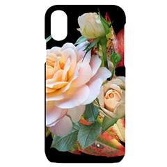 Autumn Leaves Roses Flowers Garden Iphone X/xs Black Uv Print Case