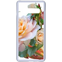 Autumn Leaves Roses Flowers Garden Samsung Galaxy S10 Plus Seamless Case(white) by Pakrebo