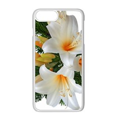 Lilies Belladonna White Flowers Iphone 8 Plus Seamless Case (white)