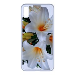 Lilies Belladonna White Flowers Iphone Xs Max Seamless Case (white)