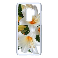 Lilies Belladonna White Flowers Samsung Galaxy S9 Plus Seamless Case(white)