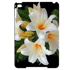 Lilies Belladonna White Flowers Apple Ipad Mini 4 Black Uv Print Case