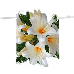 Lilies Belladonna White Flowers  Lightweight Drawstring Pouch (xl)