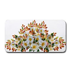 Flowers Roses Leaves Autumn Medium Bar Mats