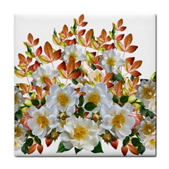 Flowers Roses Leaves Autumn Face Towel